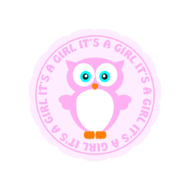 It's a girl sticker 1