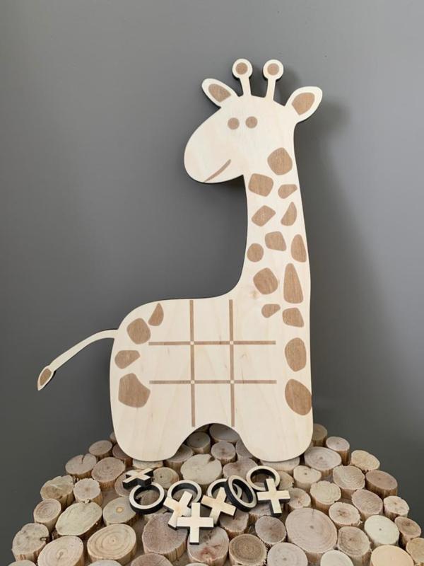 Giraffe Boter Kaas en Eieren spel