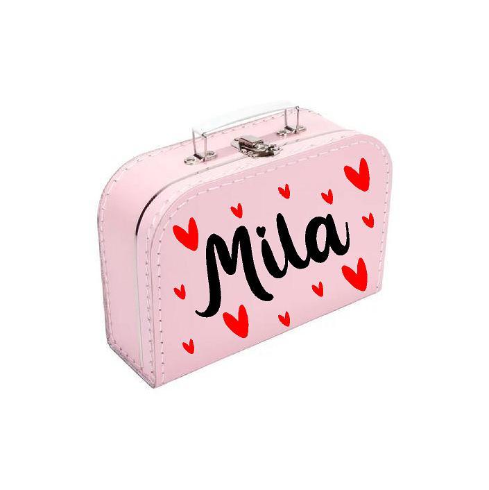 Naam koffertje 'Hearts'