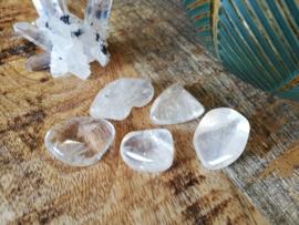 Bergkristal trommelsteen 10-20 gram