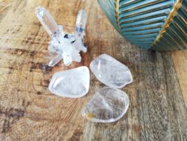 Bergkristal trommelsteen 20-40 gram