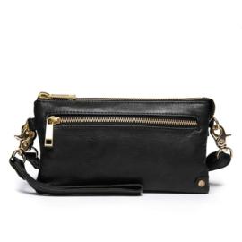 DEPECHE. || Clutch Leather Black Gold