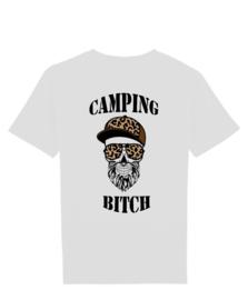 Camping bitch man skull met cap bruin