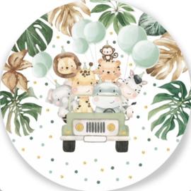 wandbord Safari verjaardag