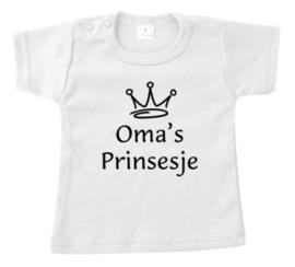 T-shirt oma's prinsesje.
