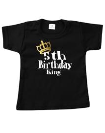 T shirt 5th birthday king
