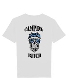 Camping bitch man blauw skull