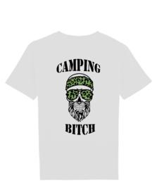 Camping bitch man groen skull