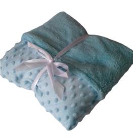 Baby deken licht blauw.