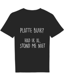 T-Shirt platte buik? Had ik al...
