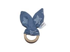 Bunny ears  blauw met ster.