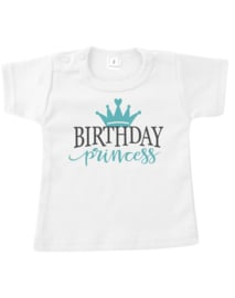 T shirt happy birthday princess turqoise