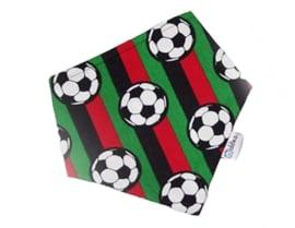 Bandana slab voetbal rood zwart en groen