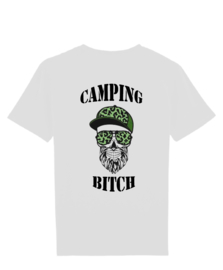 Camping bitch man skull met cap