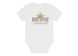 Romper happy birthday princess goud