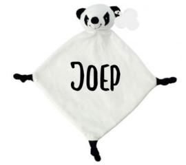Knuffeldoekje met naam Panda