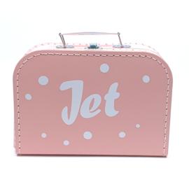 Koffertje met naam en confetti