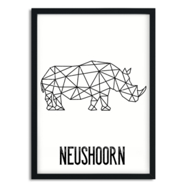 A5 poster - neushoorn