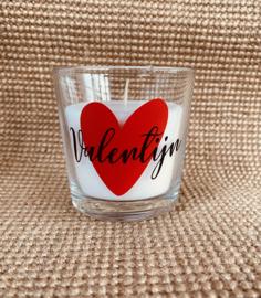 Kaars in glas Valentin