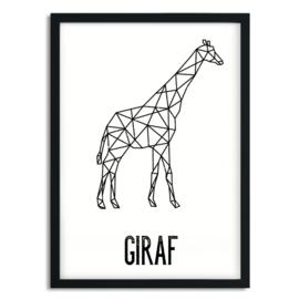 A5 poster - giraffe