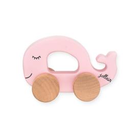 Jollein - Speelgoedauto Walvis - Roze