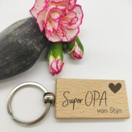 Sleutelhanger - Super Opa