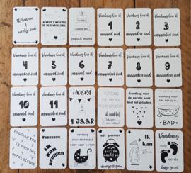 Set Baby mijlpaal kaarten