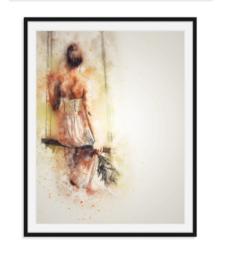 Bruid op schommel - poster