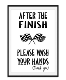 After the finish - Quote Poster