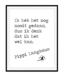Pippi Langkous - Quote poster