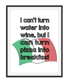 Pizza into breakfast - poster