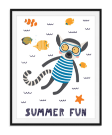 Summer fun - Zomerse poster