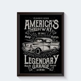 Vintage poster Amerikaanse bolide