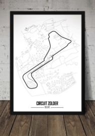 Circuit Zolder Poster - Minimalistisch