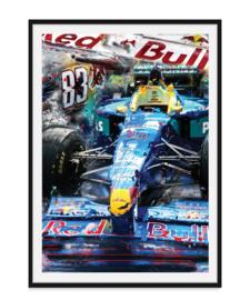 Formule1 auto Poster - Attack the track