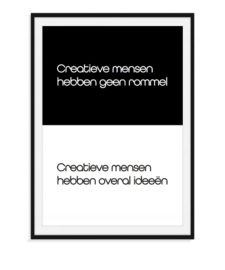 Creatieve mensen - Poster