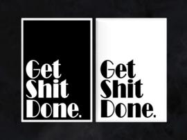 Get Shit Done - Toiletposter