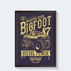 Big Foot monstertruck stoere poster
