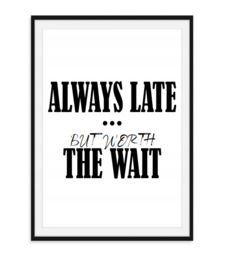 Always late - Poster