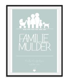 Familieposter met gezinsleden - Gepersonaliseerd
