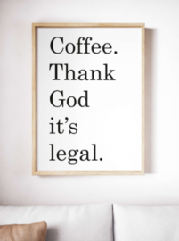 Coffee thank god - Poster