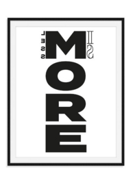 Less is more - Poster