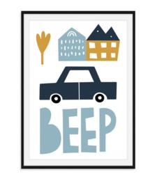 Huis Auto Beep - Poster