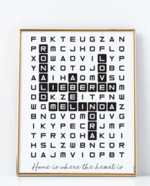 Scrabble woordzoeker familie poster