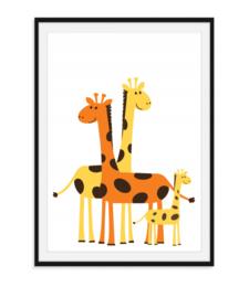 Giraffen - Kleurrijke Poster