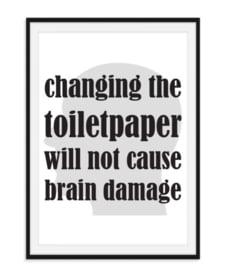 Changing toiletpaper - Toiletposter