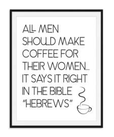 Hebrews koffie poster