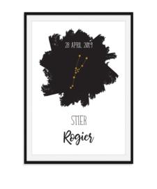 Sterrenbeeld poster met naam en datum - Sterrenstand