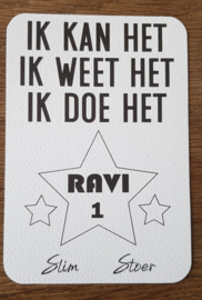 Motivatie kaart - Versie 2