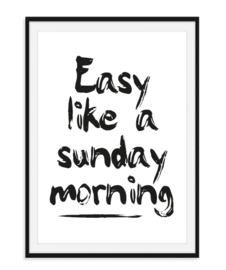 Easy like a sunday morning - Poster